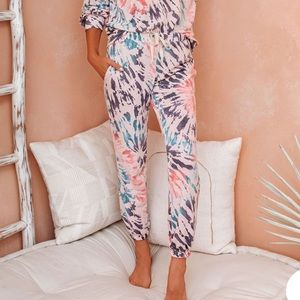 VICI Collection tie dye joggers